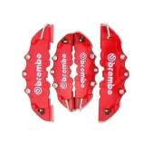 4PCS High Quality ABS Plastic Truck 3D Red Useful Car Universal Disc Brake Caliper Covers Front Rear Auto Universal Kit Decoration Modification Set for 14~18 Inch Over Wheels
