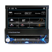 "7"" Single Din Car Video Audio MP5 Player without Rear View Camera"