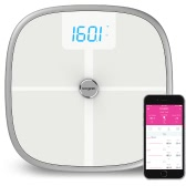 Koogeek Smart Health Scale Bluetooth WiFi Sync Measures Muscle Bone Mass BMI BMR and Visceral Fat Weight Body Fat Water 16 Users Recognition 330lb/150kg Weight Capacity