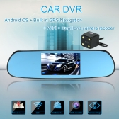 "5"" 1080P Android Smart System Car Rearview Mirror Built in GPS Navigation WIFI Dual Lens Car DVR Camera Recorder with Free Map"