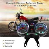Motorcycle Backlight Odometer Digital Speedometer Tachometer Gauge for Suzuki GN125 Series