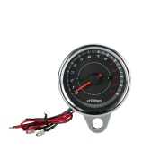 12V Universal Motorcycle Tachometer Meter LED Backlight 13K RPM Shift