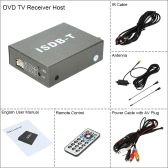 Car Digital Mini TV Box ISDB-T Analog TV Strong Signal Receiver for Car DVD Player Monitor with Antenna Remote Controller