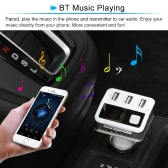 LED Display 3 USB 2.1A Car Charger Bluetooth Handsfree Call FM Transmitter Music Playing for iPhone Galaxy