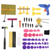 Paintless Dent Repair Tool Kit Checking Line Board Dent Lifter Puller Rubber Hammer Tap Down
