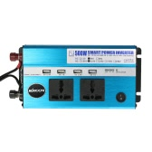 KKmoon 500W Car Power Inverter DC 24V to AC 110V 60Hz with 4 USB Ports / 2 AC Outlets