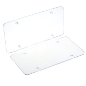 2pc License Plate Frames Flat Cover Shield for US Canada Car License Plate