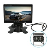 7 Inch Large TFT LCD Monitor Wireless Video Transmit Car Rear View Backup Reverse System for Bus Truck + LED Night Vision Camera Kit