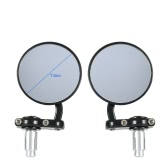 "Pair of 3"" Round Motorcycle Rear View Mirror Universal 7/8"" Handle Bar Angle Adjustable Side View Mirrors for Honda Suzuki Kawasaki"