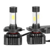 Pair of 80W 9600LM H4 HB2 9003 LED Headlight Fog Light COB All-In-One High Power Upgrade Replacement Bulb Kit 6000K White