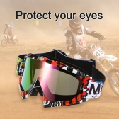 Motorcycle Racing Riding Cycling Goggles Outdoor Ski Wind-proof Antifog Glass Color Lens