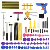 Paintless Dent Repair Tool Kit LED Checking Line Board Dent Lifter Puller Slide Hammer Tap Down