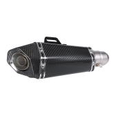 51 mm Carbon Fiber Refit Exhaust Muffler Pipe Small Hexagon Style for Motorcycles ATV Universal