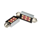 2 X 2323 6SMD 300LM S8.5 41MM LED Car License Plate Lamp Width Light Bulb Replacement White