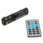 Wireless Bluetooth MP3 WMA Decoder Board Car Audio FM Radio Module with Aux in USB Port TF Card Slot Remote Control