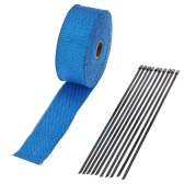 Car Motorcycle 15m Exhaust Heat Wrap Turbo Pipe Heat Insulated Wrap