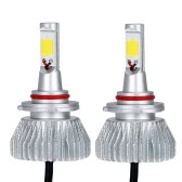KKmoon Pair of 30W 9006 COB LED Light Headlight Fog Lamp 12V 24V Car Bulb Beam Kit 6000K White