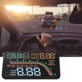 Car HUD Head Up Display KM/h & MPH TPMS Tire Pressure Monitor Speed Warning Windshield Project System OBD2 Interface Plug & Play