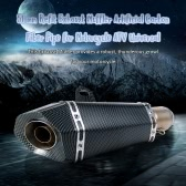 51 mm Refit Exhaust Muffler Artificial Carbon Fiber Muffler Pipe Small Hexagon Style for Motorcycle ATV Universal