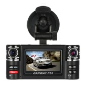 "F30  Dual Lens Car Driving Recorder 2.7"" HD Car DVR Dash Camcorder"