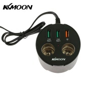 KKmoon Cup Shape Car Charger Adapter Dual Cigarette Lighter Socket 3 USB Port Charge for iOS Android Mobile Phone Music Players GPS Navigator Recorder
