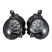 Pair of 9 LED Fog Light Bright White Lamp Left & Right for VW GOLF GTI MK5 JETTA 2005-2009