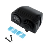 Car Cigarette Lighter Socket Power Charger Adapter + Digital Voltmeter