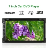 7 Inch Universal 2 Din Car DVD/USB/SD Player GPS Navigator HD Elegant UI Multimedia Bluetooth Radio Entertainment System