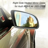 Right Drive Side Heated Electric Wing Door Mirror Glass for Audi A3 A4 A6 2001-2008