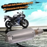 51mm Universal Motorcycle Exhaust Muffler Pipe for ATV Super Cool Frosted Surface with Net Tail