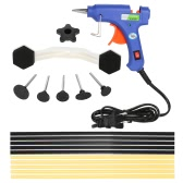 17Pcs Dent Puller Kit with Hot Melt Glue Gun Glue Sticks for Car Body Dent Repair