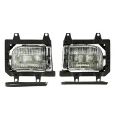 Pair of Left & Right Front Fog Light Transparent Plastic Lens Kit for BMW E30 3-Series 1985-1993