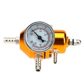 Universal Car Fuel Pressure Regulator With Gauge 0-140 PSI Adjustable Gas Hose Kit