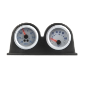 "Double Dual Auto Car Gauge Meter Pod Holder Cup Mount 2"" 52mm"