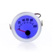 """Oil Pressure Meter Gauge with Sensor for Auto Car 2"""" 52mm 0~100PSI Blue LED Light"""
