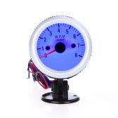 "Tachometer Tach Gauge with Holder Cup for Auto Car 2"" 52mm 0~8000RPM Blue LED Light"