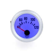 "Water Temperature Meter Gauge with Sensor for Auto Car 2"" 52mm 40~120Celsius Degree Blue LED Light"