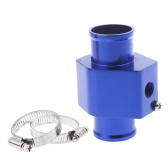 Water Temp Temperature Joint Pipe Sensor Gauge Radiator Hose Adapter 36mm Blue