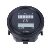 12V/24V/36V/48V/72V LED Digital Battery Status Charge Indicator with Hour Meter Gauge