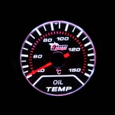 "Car Motor Universal Smoke Lens 2"" 52mm 40-150°C Indicator Oil Temp Gauge White LED Tempreture Meter"