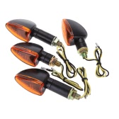 4pcs 12V Motorcycle Bike  Bulb Amber Front & Back Turn Signal Indicator Light