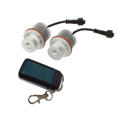 1 Pair E39 10W RGB Angel Eyes with Controller Led Marker for BMW E39