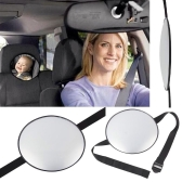 Tirol New Car Adjustable Back Seat Mirror Rear View Headrest Mount Baby Safety Mirror