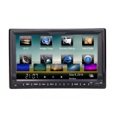 "Universal 7"" HD Touch Screen 2 Din Car DVD/USB/SD Player Bluetooth GPS Stereo Radio Car Entertainment System for All Cars"