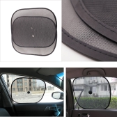 2Pcs Car Window Sunshade Visor Black Mesh Folding Shield Sun Screen