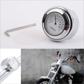 "7/8"" 1""Motorcycle Handlebar Silver White Dial Thermometer for Harley Cruiser Chopper"