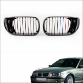 2Pcs Black M-color Front Kidney Grille for BMW E46 4 Door 3 Series Facelift Saloon 2002-2005