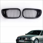 2Pcs Gloss Black Kidney Front Grille for BMW E46 3 Series 4 Door 2002-2005