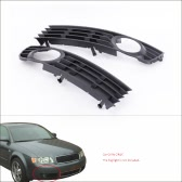 2Pcs Black Front Lower Side Bumper Fog Light Grille for Audi A4 B6 Sedan 2002-2005