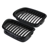 2Pcs Matte Black Front Kidney Grille for BMW E39 5 Series 1998-2003